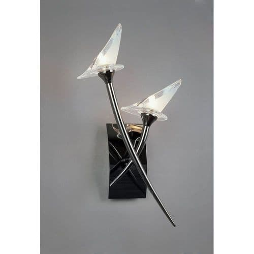 Mantra M0308BC/S Flavia Switched Wall Lamp 2 Light